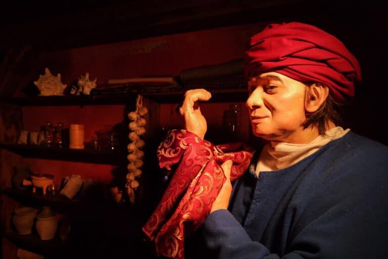 Manekin kupca na wystawie muzealnej