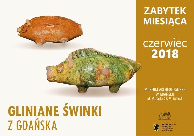 Gliniane swinki z Gdanska zabytek
