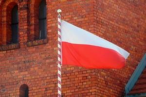 Flaga Polski na maszcie - zdjęcie