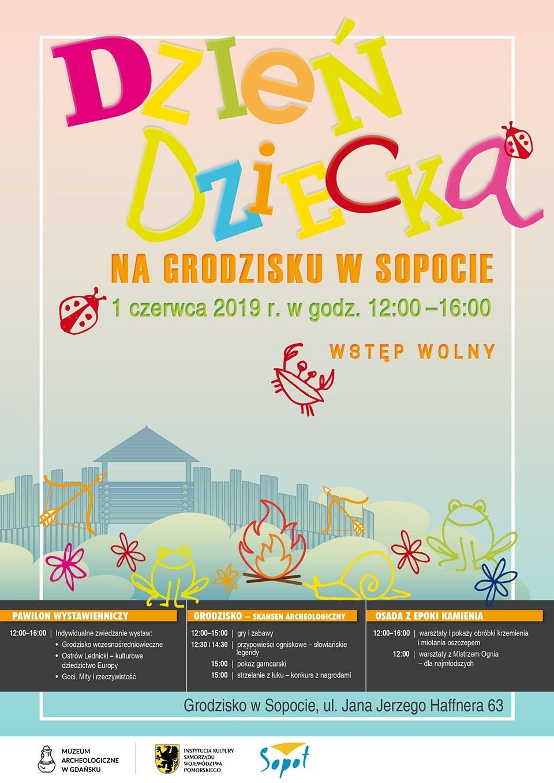 Dzień Dziecka na Grodzisku w Sopocie - plakat