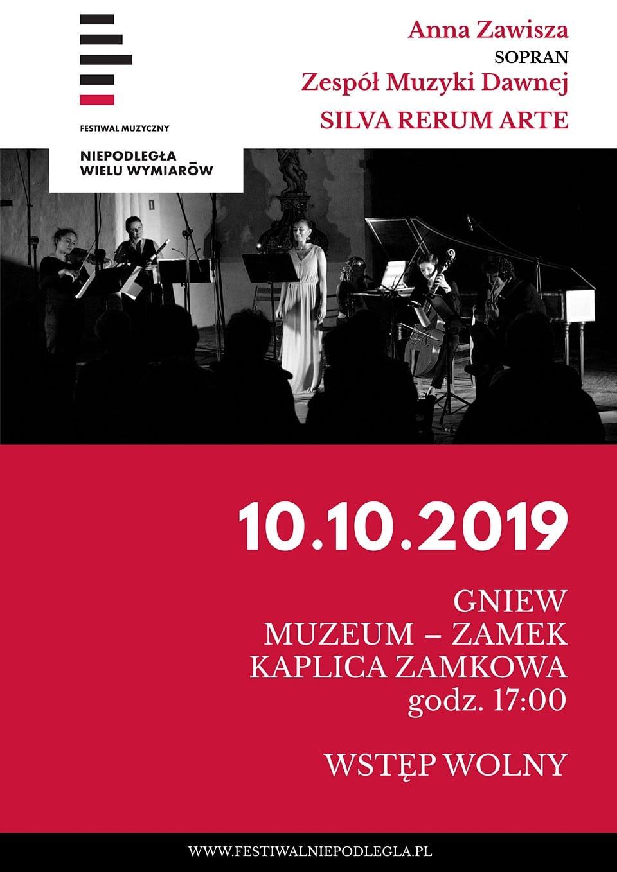 Anna Zawisza - koncert na Zamku w Gniewie - plakat