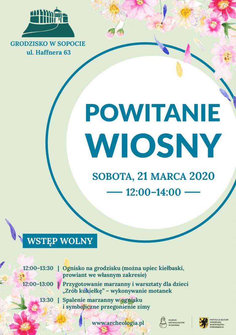 Powitanie Wiosny 2020 na Grodzisku w Sopocie - plakat