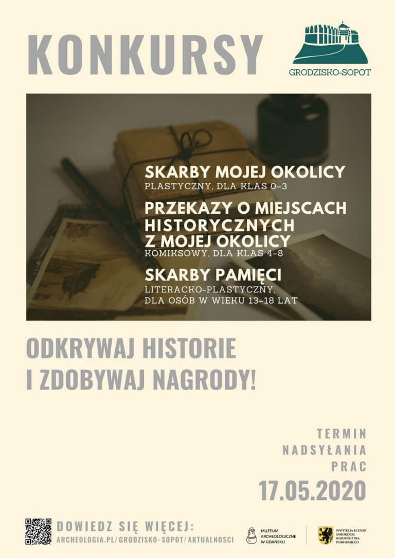 Konkursy - Grodzisko w Sopocie - plakat