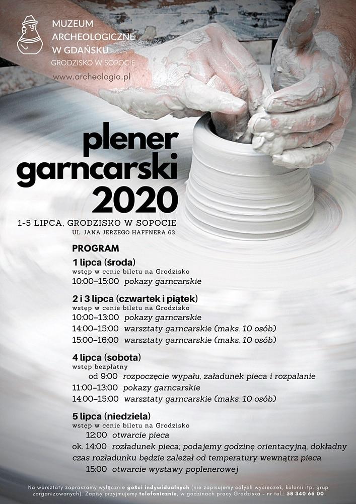Plener Garncarski 2020 - plakat