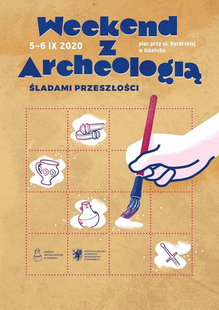 """Weekend z Archeologią 2020"" - plakat"