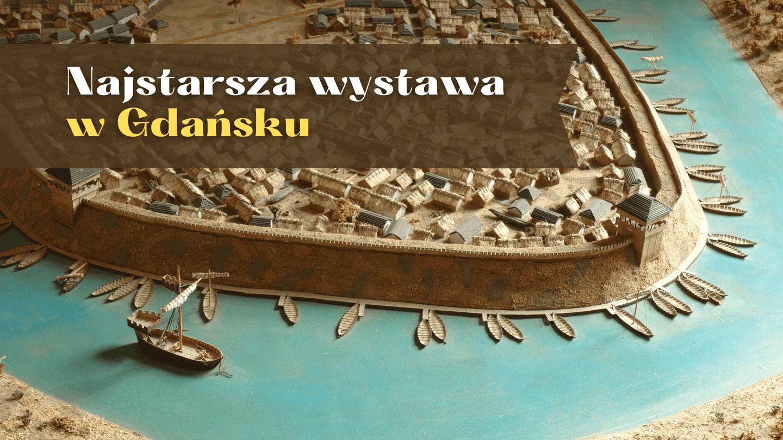 Fragment makiety wczesnośredniowiecznego Gdańska.